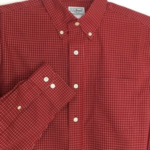 L.L. Bean Wrinkle Free Traditional Fit Tall Shirt